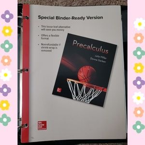 Other - Precalculus Loose Leaf Textbook + Binder